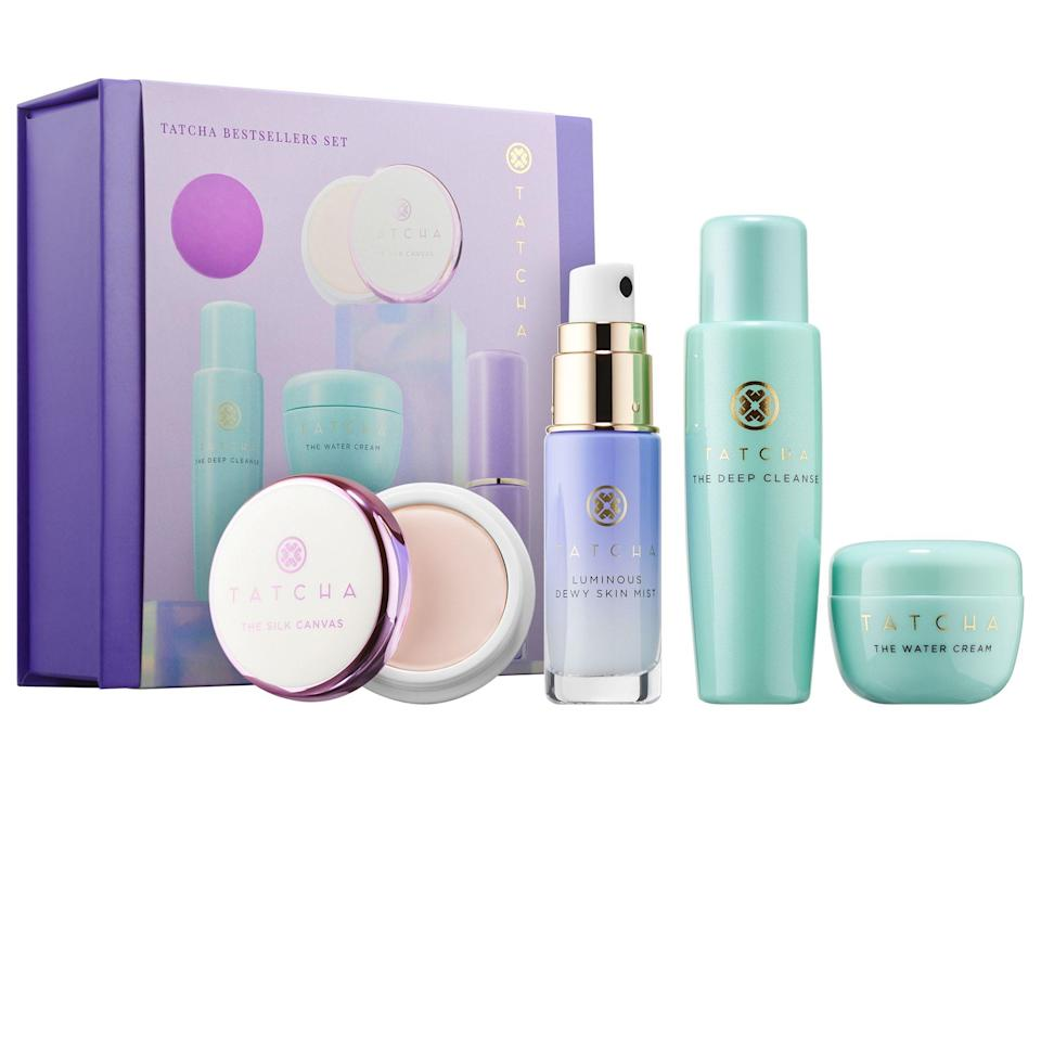 "<p><strong>Tatcha</strong></p><p>sephora.com</p><p><strong>$60.00</strong></p><p><a href=""https://go.redirectingat.com?id=74968X1596630&url=https%3A%2F%2Fwww.sephora.com%2Fproduct%2Ftatcha-bestsellers-set-P450961&sref=https%3A%2F%2Fwww.womansday.com%2Flife%2Fg19843084%2Fgifts-for-mother-in-law%2F"" rel=""nofollow noopener"" target=""_blank"" data-ylk=""slk:Shop Now"" class=""link rapid-noclick-resp"">Shop Now</a></p><p>It's the perfect gift for a mother-in-law who loves experimenting with her beauty and <a href=""https://www.womansday.com/style/beauty/a34271754/kelly-ripa-skincare-routine/"" rel=""nofollow noopener"" target=""_blank"" data-ylk=""slk:skincare routine"" class=""link rapid-noclick-resp"">skincare routine</a>. This 4-piece set lets her sample the Japanese-inspired brand's greatest hits, including Water Cream, which happens to be one of Sephora's best-selling moisturizers.</p>"