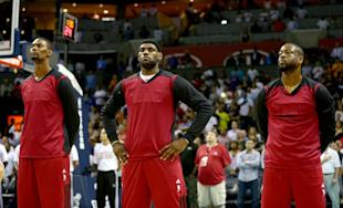 Chris Bosh, LeBron James and Dwyane Wade all opted out of their contracts. (AP)