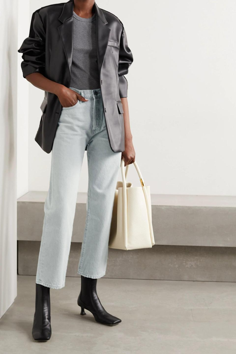 <p><span>Goldsign's The Relaxed Straight Organic High-Rise Jeans</span> ($325) are a refined take on vintage-style denim.</p>
