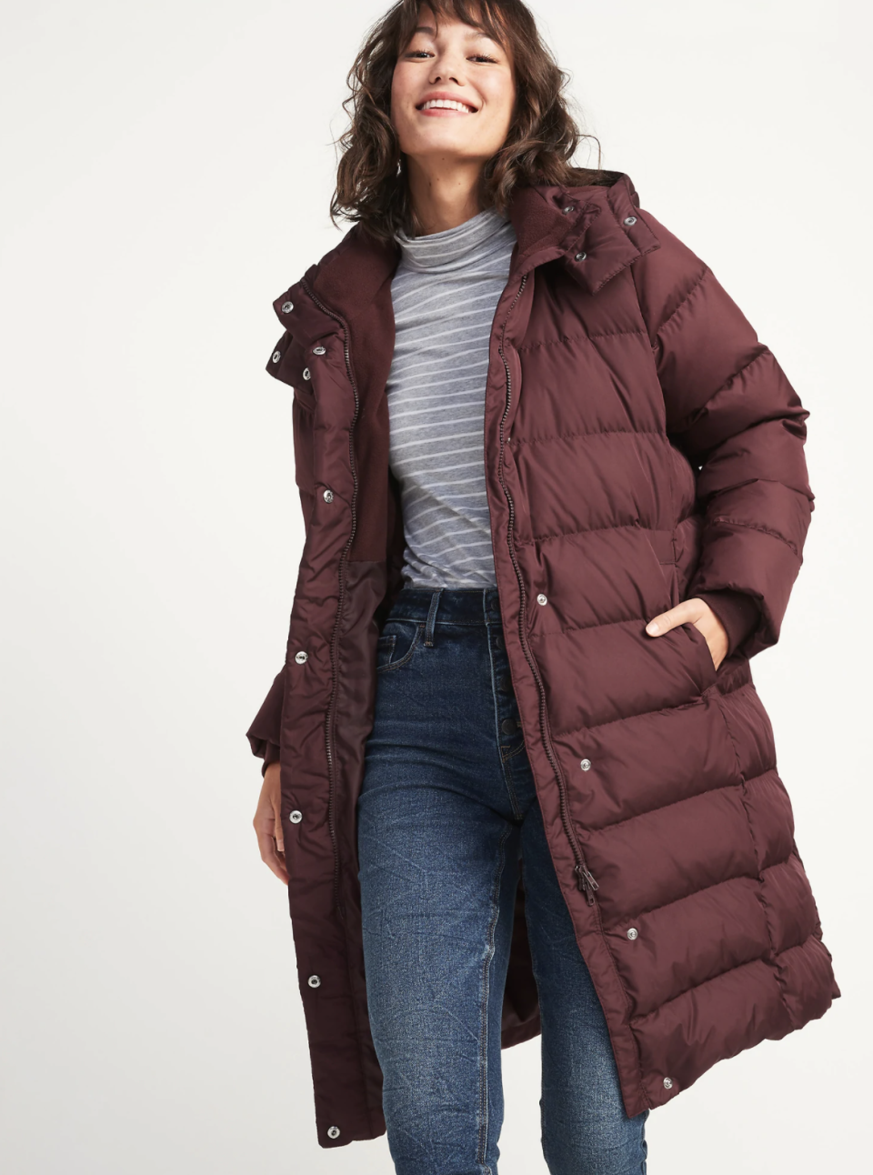 Long Hooded Down-Fill Puffer Coat for Women - on sale at Old Navy, $75 (originally $150).