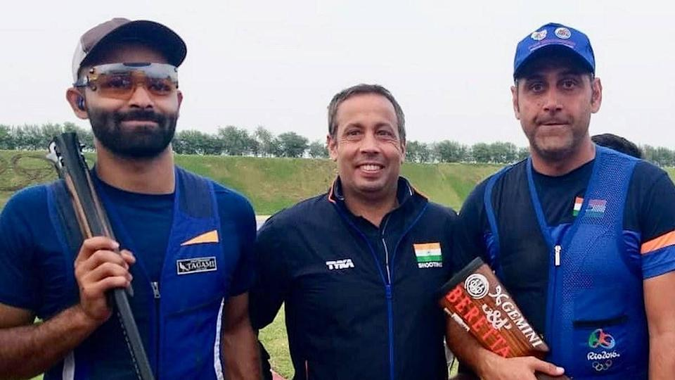"""<div class=""""paragraphs""""><p>File: Mairaj Ahmed Khan (right and Angad Singh Bajwa (left) pulled out of ISSF Shotgun World Cup in Cyprus from 4 March</p></div>"""