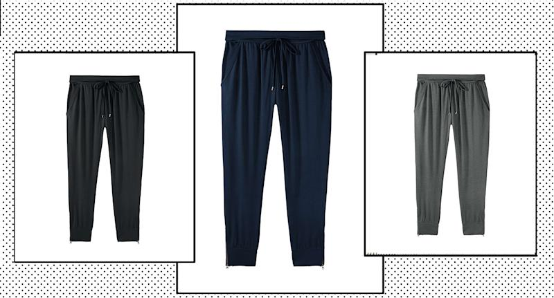 "hush's Amie joggers have been praised as the most ""comfortable and easy to wear"" loungewear items by shoppers. (John Lewis & Partners/ Yahoo Style UK)"