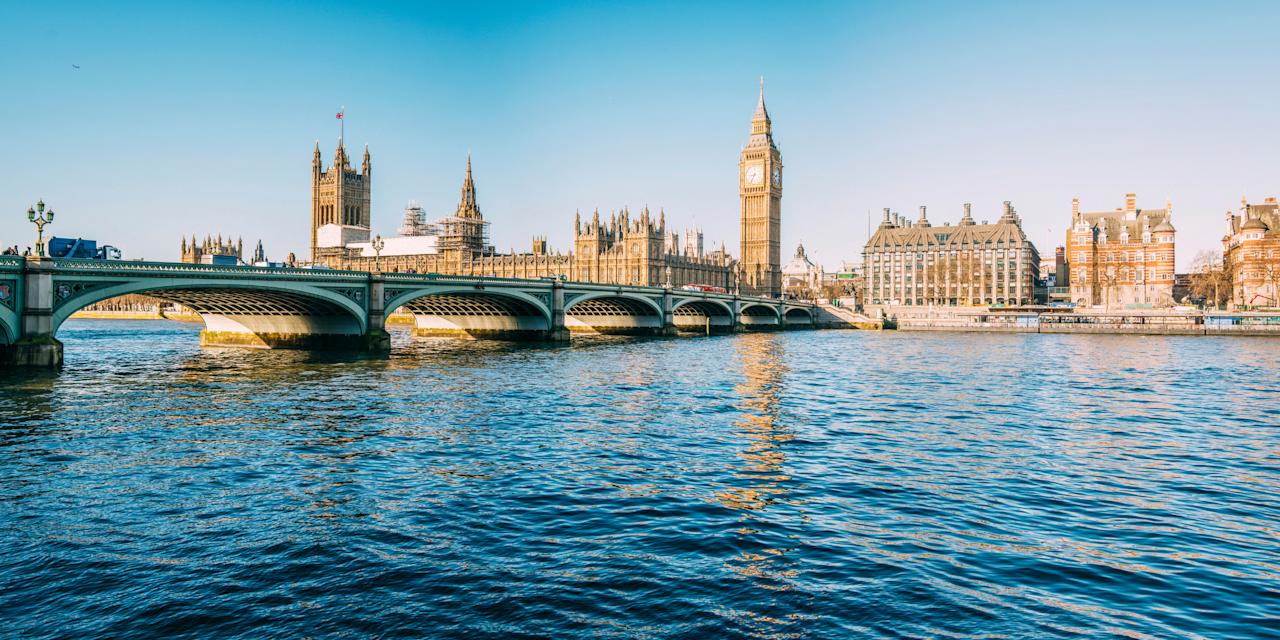 """For a cruise closer to home, try a jaunt down the Thames. <a href=""""https://fave.co/2KRvtnQ"""">Le Boat</a> has a Benson Return cruise, which takes in the western section of the River Thames, starting and finishing in Benson, south Oxfordshire. Float along the river until you reach the dreaming spires and universities of Oxford, or head east towards Henley-on-Thames, the home of British rowing. You'll stay on 29ft canal boat that sleeps up to three. A seven-night self-catered cruise costs from £266pp, based on three sharing and departing on August 17. [Photo: Getty]"""