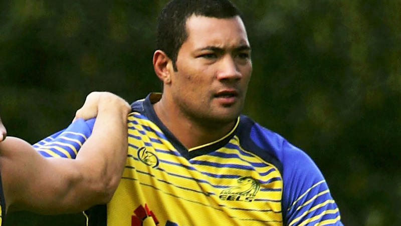 Aukuso Junior Paulo, pictured here at a Parramatta Eels training session in 2008.