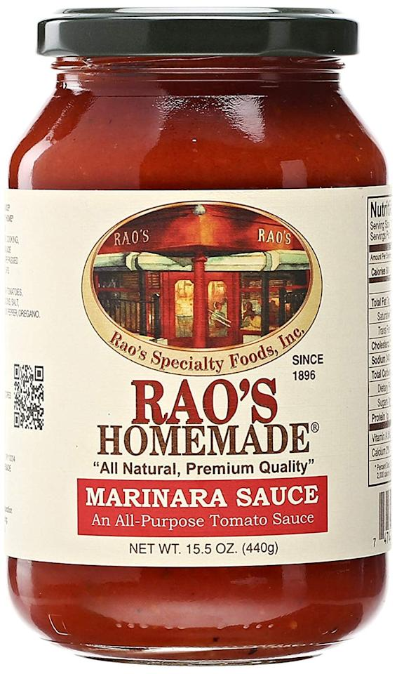 "<p>This <a href=""https://www.popsugar.com/buy/Rao%27s%20Homemade%20Marinara%20Sauce-471019?p_name=Rao%27s%20Homemade%20Marinara%20Sauce&retailer=amazon.com&pid=471019&price=11&evar1=fit%3Aus&evar9=46445186&evar98=https%3A%2F%2Fwww.popsugar.com%2Ffitness%2Fphoto-gallery%2F46445186%2Fimage%2F46445213%2FRao-Homemade-Marinara-Sauce&list1=shopping%2Camazon%2Chealthy%20foods%2Clow-carb&prop13=api&pdata=1"" rel=""nofollow"" data-shoppable-link=""1"" target=""_blank"" class=""ga-track"" data-ga-category=""Related"" data-ga-label=""https://www.amazon.com/Raos-Marinara-Sauce-15-5-oz/dp/B0078DP1JM?ref_=bl_dp_s_web_7483081011"" data-ga-action=""In-Line Links"">Rao's Homemade Marinara Sauce</a> ($11) is the original, classic marinara sauce. It's amazing on zucchini noodles and has only 4 grams of carbs.</p>"