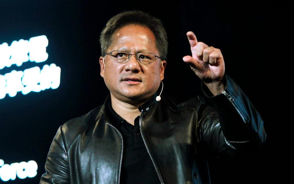 Nvidia chief executive Jensen Huang. chipmaker's takeover of Arm is leading a revival in M&A activity.