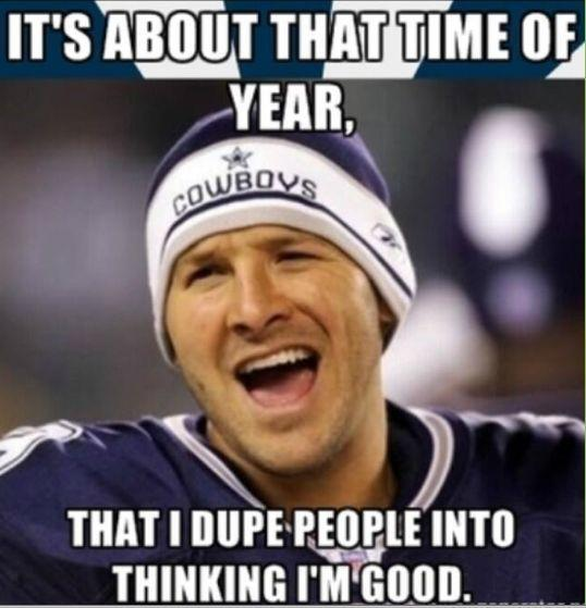 Romo was just good enough — and bad enough when it counted most — to fire up both ends of the sphere. (via Pinterest)