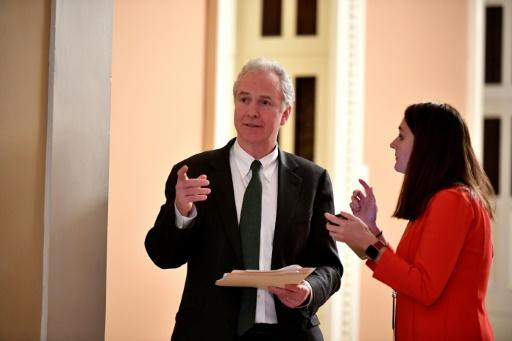 US Senator Chris Van Hollen, seen here in January 2020, has been co-leading a push to impose sanctions over the infringement of Hong Kong autonomy