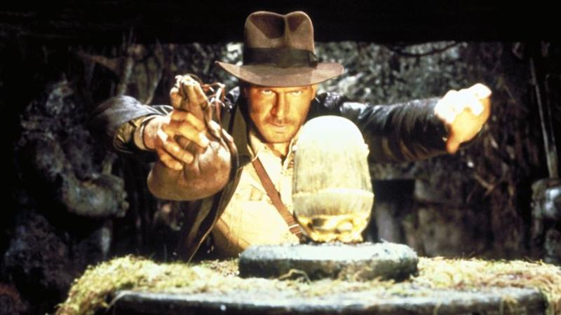 CA.1023.Raiders7 –– Indiana Jones (Harrison Ford) in the movie INDIANA JONES AND THE RAIDERS OF THE