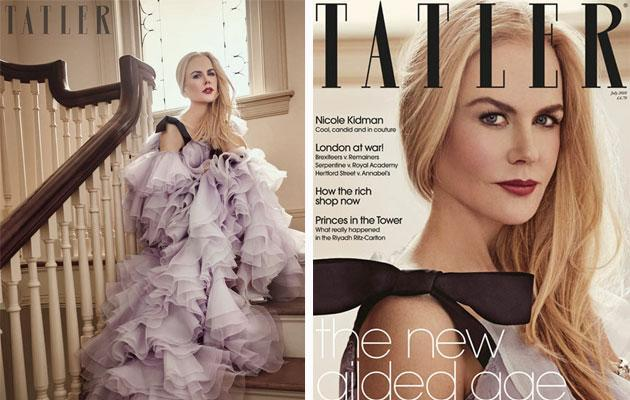 Kidman appears in the July issue of <em>Tatler</em>. (Photo: <span>Victor Demarchelier/<em>Tatler</em>)</span>