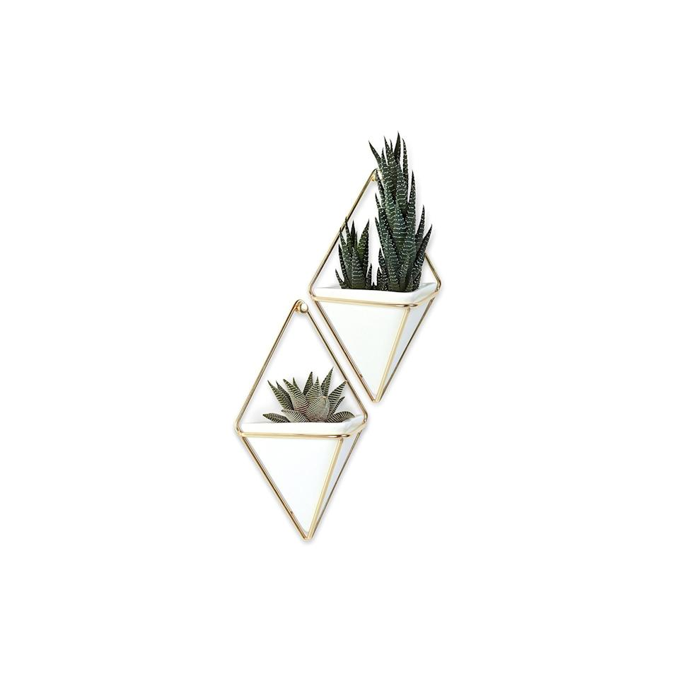 """<p>Pair this set of hanging planters with two mini plants to make the ultimate white elephant gift. It's a stylish option that's still under the $25 limit.</p> <p><strong>To buy:</strong> $21; <a href=""""http://www.amazon.com/dp/B00S7068HY/?ie=UTF8&camp=1789&creative=9325&linkCode=as2&creativeASIN=B00S7068HY&tag=reasim03-20&ascsubtag=d41d8cd98f00b204e9800998ecf8427e"""" target=""""_blank"""">amazon.com</a>.</p>"""