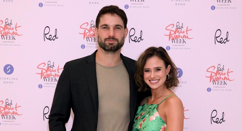 New parents Jamie Jewitt and Camilla Thurlow announced their engagement this weekend. (Getty Images)