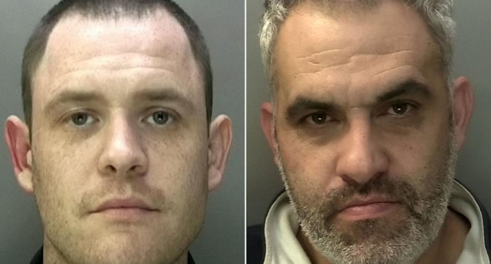William Lewis, 37 (left) and Nelson Herne, 42, committed 'some of the most brazen car thefts' police had ever seen. (SWNS/West Midlands Police)
