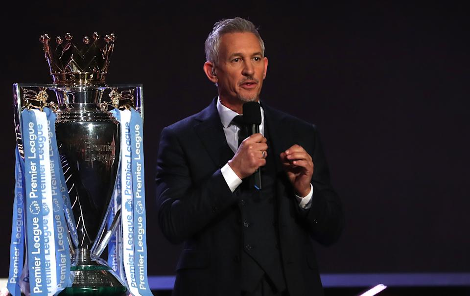 Presenter Gary Lineker during the BBC Sports Personality of the Year 2019 at The P&J Live, Aberdeen. (Photo by Jane Barlow/PA Images via Getty Images)