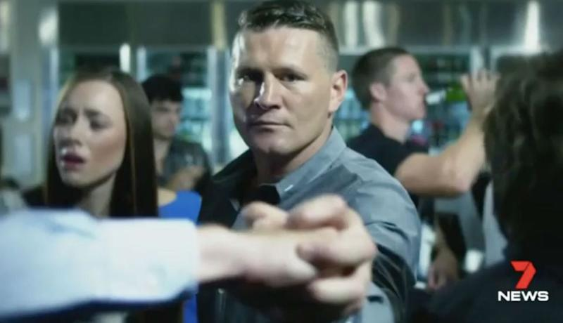 Danny Green in an ad campaigning against one-punch attacks. Source: 7 News
