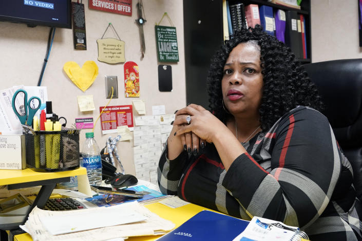 Jackson Women's Health Organization clinic director Shannon Brewer, expresses her concern for patients in light of the U.S. Supreme Court considering arguments later this year over a Mississippi law that would ban most abortions after 15 weeks, at her Jackson, Miss., office on May 19, 2021. The Supreme Court agreed to take up a dispute over a Mississippi ban on abortions after 15 weeks of pregnancy, with their decision affecting whether the state's only medical facility will continue to be able to provide abortions on demand. (AP Photo/Rogelio V. Solis)