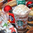 """<p>Starbucks outside of the U.S. are already pumping out those 2018 holiday drinks! Locations in Indonesia and Vietnam are serving up the <a href=""""http://www.starbucks.co.id/promo/holiday-cups"""" rel=""""nofollow noopener"""" target=""""_blank"""" data-ylk=""""slk:Snowball Dark Mocha Frappuccino"""" class=""""link rapid-noclick-resp"""">Snowball Dark Mocha Frappuccino</a>. </p><p>It's blended with java chip and vanilla, and topped with espresso-infused whipped cream and a """"snowfall"""" of crunchy, round rice puffs. It looks like there are some kind of <a href=""""https://www.instagram.com/p/Bpik6xsh-Ou/"""" rel=""""nofollow noopener"""" target=""""_blank"""" data-ylk=""""slk:red and green sprinkles"""" class=""""link rapid-noclick-resp"""">red and green sprinkles</a> on them as well. The Frappuccino can also be served as a hot or iced beverage.</p>"""