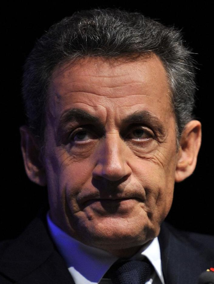 """Opposition chief and former French president Nicolas Sarkozy has ruled out any """"grand coalition"""" for second-round run-offs scheduled for December 13, 2015 (AFP Photo/Guillaume Souvant)"""