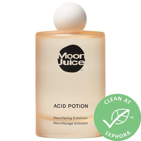 "<p>""<a href=""https://www.popsugar.com/buy/Moon-Juice-Acid-Potion-Resurfacing-Exfoliator-578702?p_name=Moon%20Juice%20Acid%20Potion%20Resurfacing%20Exfoliator&retailer=sephora.com&pid=578702&price=42&evar1=bella%3Aus&evar9=47519595&evar98=https%3A%2F%2Fwww.popsugar.com%2Fbeauty%2Fphoto-gallery%2F47519595%2Fimage%2F47519647%2FMoon-Juice-Acid-Potion-Resurfacing-Exfoliator&list1=must%20haves%2Ceditors%20pick%2Cskin%20care&prop13=mobile&pdata=1"" class=""link rapid-noclick-resp"" rel=""nofollow noopener"" target=""_blank"" data-ylk=""slk:Moon Juice Acid Potion Resurfacing Exfoliator"">Moon Juice Acid Potion Resurfacing Exfoliator</a> ($42) has been around for a while, but it just got a facelift that caught my eye - how chic is this new bottle? And the juice (pun intended) is really fantastic, too. It contains an AHA and BHA acid complex, ""super mushrooms"" to calm inflammation, and hydrating and free radical-fighting ingredients. A quick swipe after cleansing makes my skin feel refreshed and moisturized, as well as thoroughly clean."" - DD</p>"