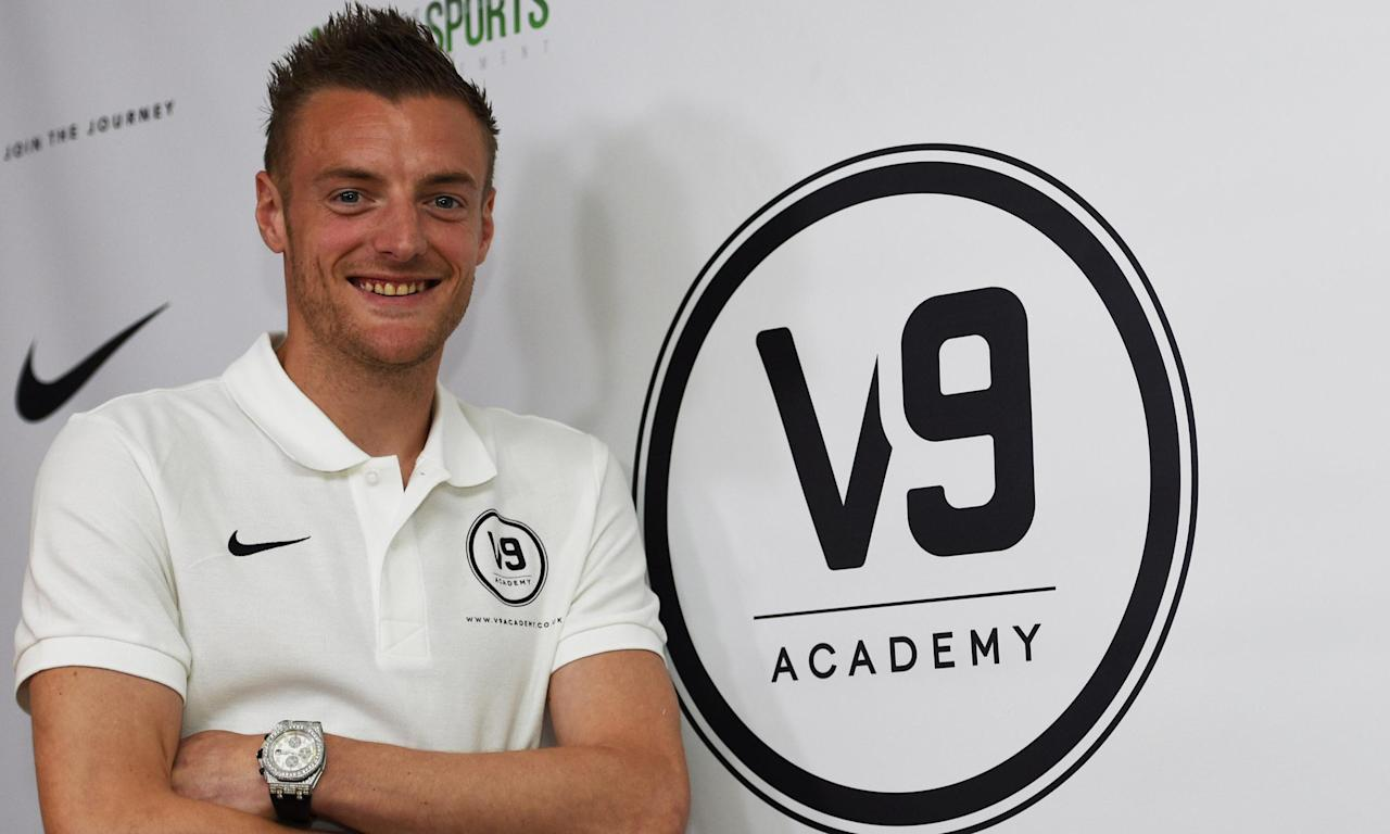 Jamie Vardy launched his V9 academy with the aim of helping non-league players into the professional game.