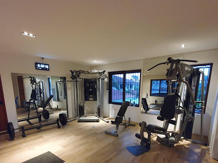 This impressive home gym has been 20 years in the making and cost around $20,000.