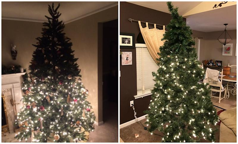 Half Of Christmas Lights Dont Work.These Photos Prove Half Lit Christmas Trees Are All The Rage