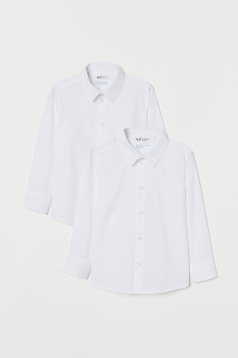 2-pack Easy-iron Shirts. Image via H&M.