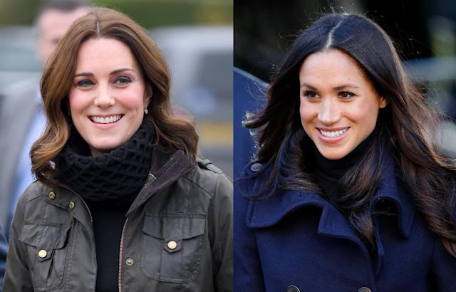 Kate Middleton, left, and Meghan Markle. (Photos: Getty Images)