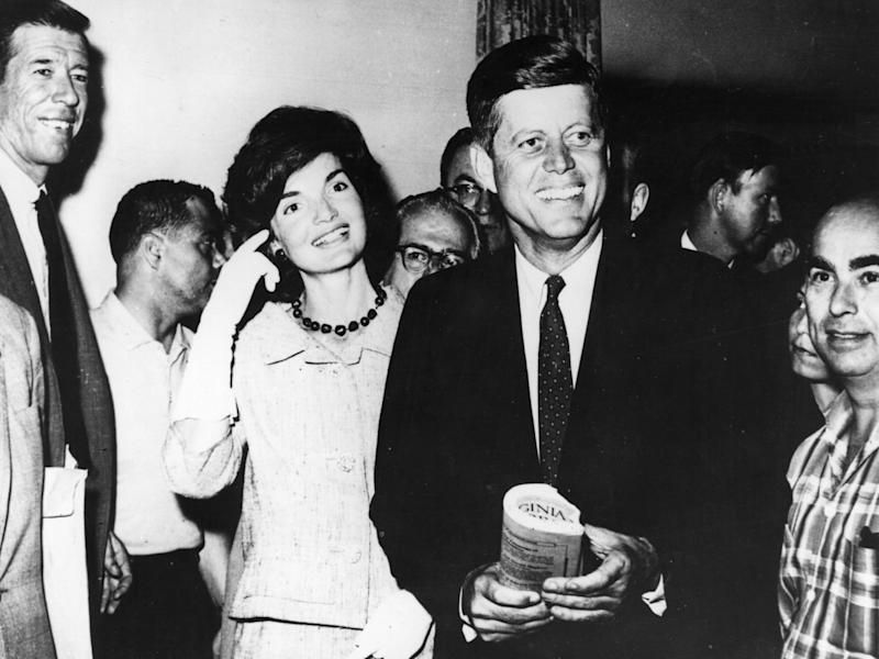 John F Kennedy Senator for Massachusetts with his wife, Jacqueline: (Keystone Getty Images)