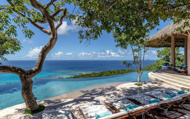 One of the pools at Paraiba on Mustique