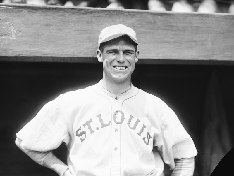 (Original Caption) 7/15/1920--George Sisler, star first sacker of the St. Louis Browns who is leading in batting with an average of .408. Photo shows his head and shoulders.