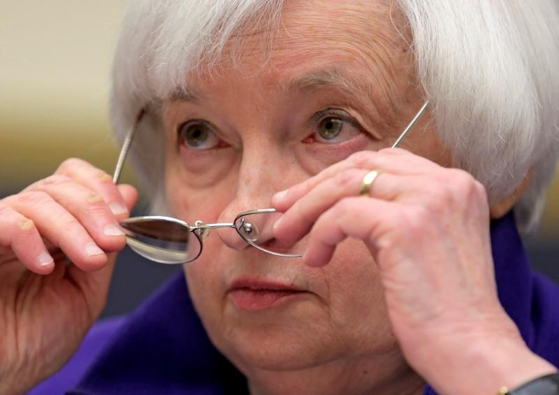 """Federal Reserve Chairman Yellen delivers the semi-annual testimony on the """"Federal Reserve's Supervision and Regulation of the Financial System"""" before the House Financial Services Committee in Washington"""