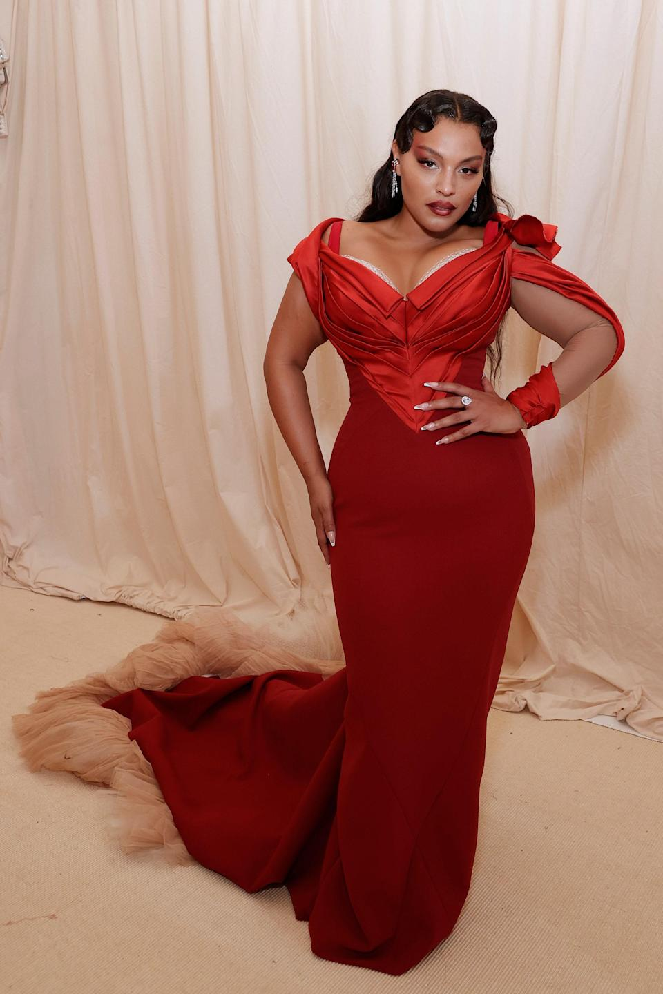 """<h1 class=""""title"""">Paloma Elsesser in Zac Posen</h1><cite class=""""credit"""">Photo: Getty Images</cite>"""