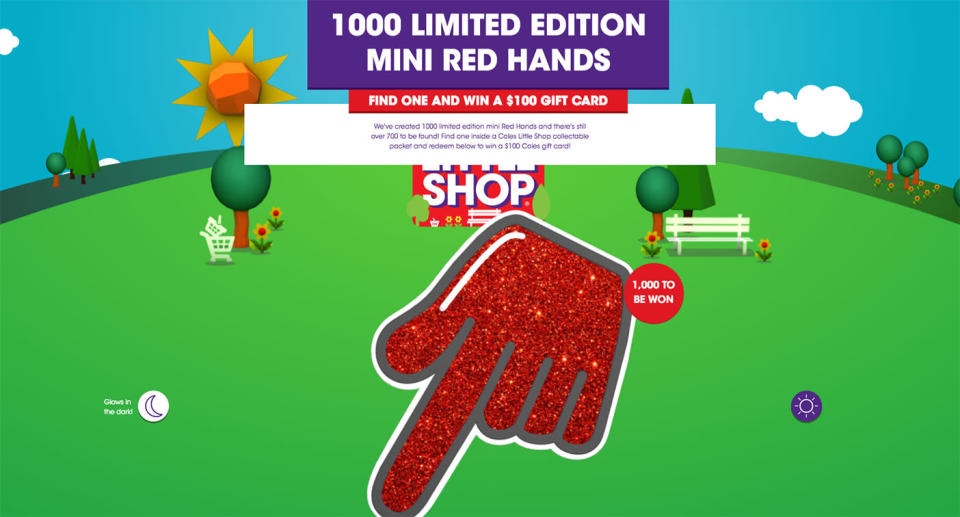 The Coles Little Shop mini collectables promotion has been extended, with 600 red hands to find.