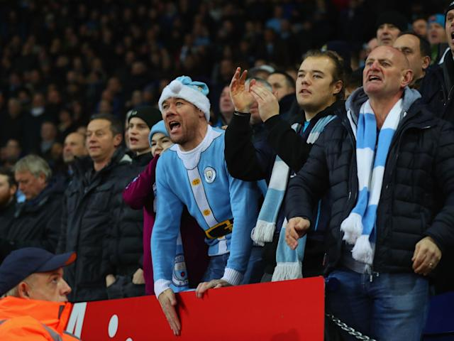 Manchester City and Plymouth Argyle the biggest spending fans over the festive period