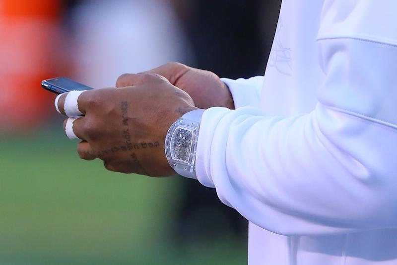 Another look at Odell Beckham's watch. (Getty Images)