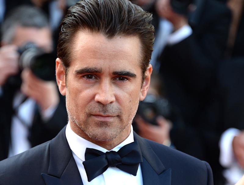 """Colin Farrell, attends the """"The Killing Of A Sacred Deer"""" screening during the 70th annual Cannes Film Festival at Palais des Festivals on May 22, 2017 now unrecognisable as The Pengiun DC Films' The Batman"""