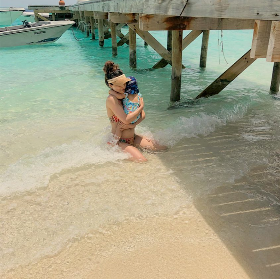 <p></p><p>Of the many 'first times' in a child's life, this was Innaya's first time in the crystal clear water of Maldives. Soha Ali Khan had recently been on a holiday to the topical islands with Kunal, Saif and Kareena, complete with the two little cuties. Her gram is replete with envy evoking pictures from the trip which have convinced me to book my next vacation to the South Asian state.<br /></p><p> </p><p></p>