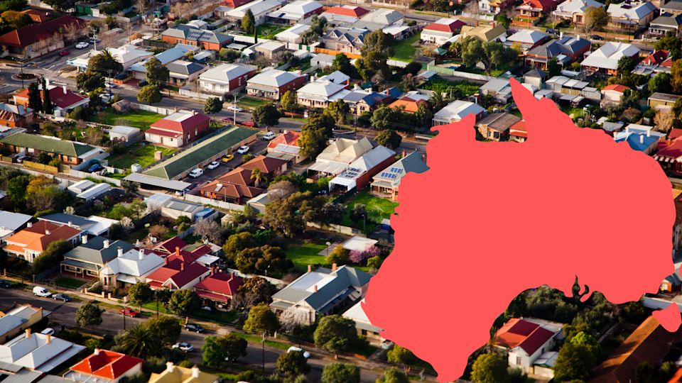 Pictured: Aerial view of regional property. Image: Getty