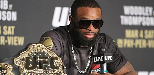 "<p>On June 9, <span>Colby Covington</span> defeated Rafael dos Anjos in the UFC 225 co-main event to capture the interim welterweight title. The win ensured a showdown against champion <span>Tyron Woodley</span> later this year.</p> <p>The two are former training partners at American Top Team and bitter rivals. Covington called out Woodley following his UFC 225 win and Woodley has responded via social media and during several podcast appearances.</p> <p>Covington has a stifling style. He pressures his opponents until they wilt and it's taken him to the top of the division. The only man standing in his way of becoming undisputed welterweight champ is Woodley, and Woodley believes Covington's style plays right into his hand.</p> <p>""If their number one attribute is cardio, they're up s--t creek because cardio is a controllable variable. You can't control that I'm a better wrestler; I'm stronger than you. You can't control that I punch a s--t-load harder than you. You can't vouch for those things in a six-week training camp. In one year, you can't change your punching power to be measurable to mine,"" said Woodley during an appearance on the <a href=""http://www.ufc.com/news/Unfiltered-Episode-205"" rel=""nofollow noopener"" target=""_blank"" data-ylk=""slk:UFC Unfiltered"" class=""link rapid-noclick-resp""><em>UFC Unfiltered</em></a> podcast.</p> <p>""His ground is terrible. When you think about all those attributes, I've said this before, put your chin on the treadmill. Show me how you can condition your chin to take a punch.""</p> <p>Woodley has had success against pressure fighters in the past and believes he'll have success against Covington when the two eventually meet inside the Octagon. </p> <p>""Fighters that press me like that have been the ones that get knocked out. Koscheck was one and got knocked out. Robbie (Lawler) is a pressure fighter. He got knocked out. I've fought a guy like him before,"" said Woodley. ""These are people I call The Walking Dead. They know they have to get a takedown.""</p> <p><strong>TRENDING > </strong><a href=""https://www.mmaweekly.com/colby-covington-tyron-woodley-quit-training-with-me-because-he-couldnt-keep-up"" rel=""nofollow noopener"" target=""_blank"" data-ylk=""slk:Colby Covington: Tyron Woodley Quit Training With Me Because He Couldn't Keep Up"" class=""link rapid-noclick-resp""><strong>Colby Covington: Tyron Woodley Quit Training With Me Because He Couldn't Keep Up</strong></a></p> <p>Taking Woodley down has proven difficult for everyone that he's faced. He has a 97.6 takedown defense percentage. It's the best in UFC history. </p> <p>""It's not like I just have the best takedown defense in the welterweight division. I have the best takedown defense in the history of the UFC. It's kind of funny that his whole game plan is surrounded around taking me down.""</p> <p>Woodley and Covington have yet to set a date to meet in the Octagon, but it is expected to happen later this year.</p>"