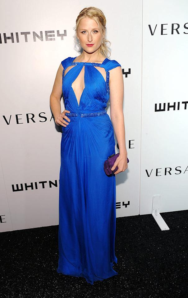"""Meryl Streep's daughter, Mamie Gummer, looked regal in bright blue. Dimitrios Kambouris/<a href=""""http://www.wireimage.com"""" target=""""new"""">WireImage.com</a> - October 19, 2009"""