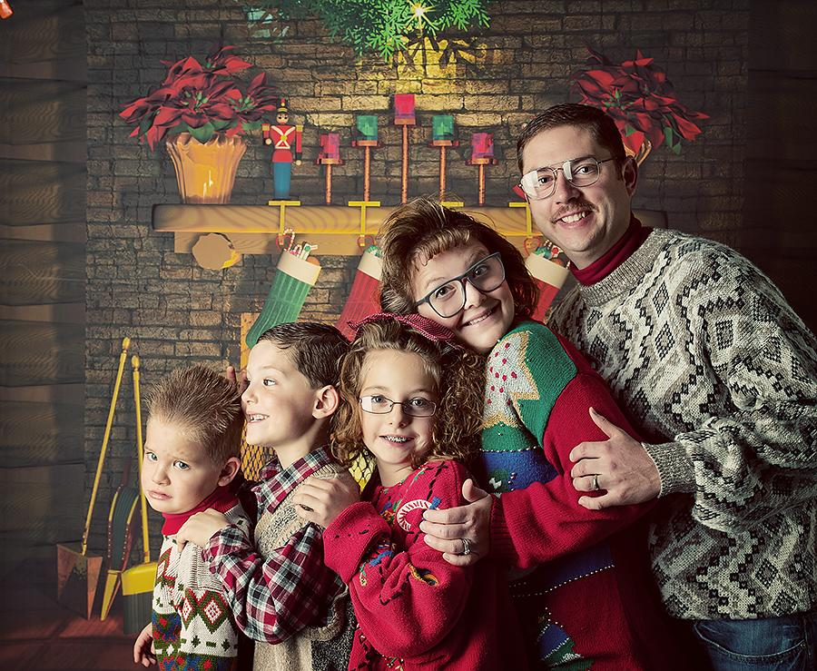 """The Klatt family of Buffalo, Minnesota embraced the awkward family photo trend for their card this year. """"Merry Christmas, from our awkward family to yours!"""" Kelly Klatt wrote to """"GMA."""""""