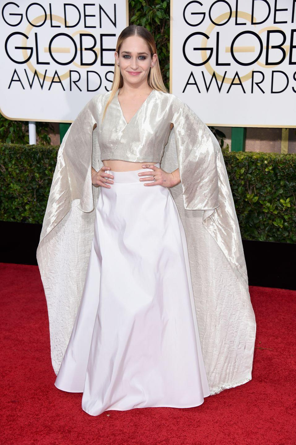 <p>The <em>Girls</em> actress went kimono style in 2015.</p>