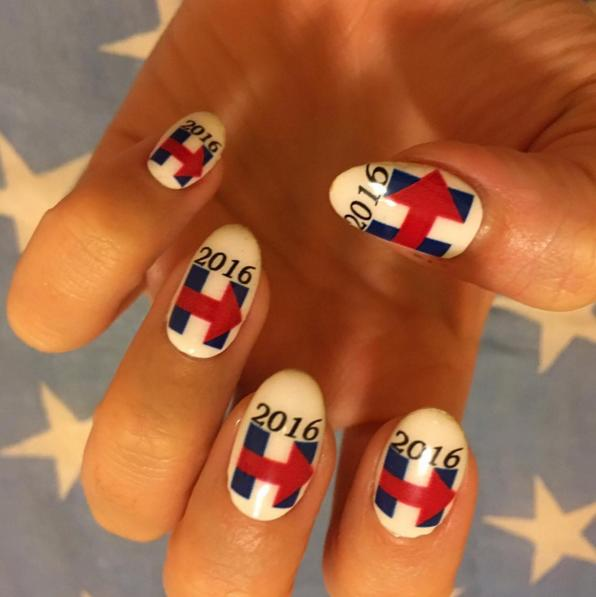 "<p>There's no better way to show your support than through themed nail art! <i>Photo: <a href=""https://instagram.com/hillaryclinton/"">@hillaryclinton/Instagram</a></i></p>"