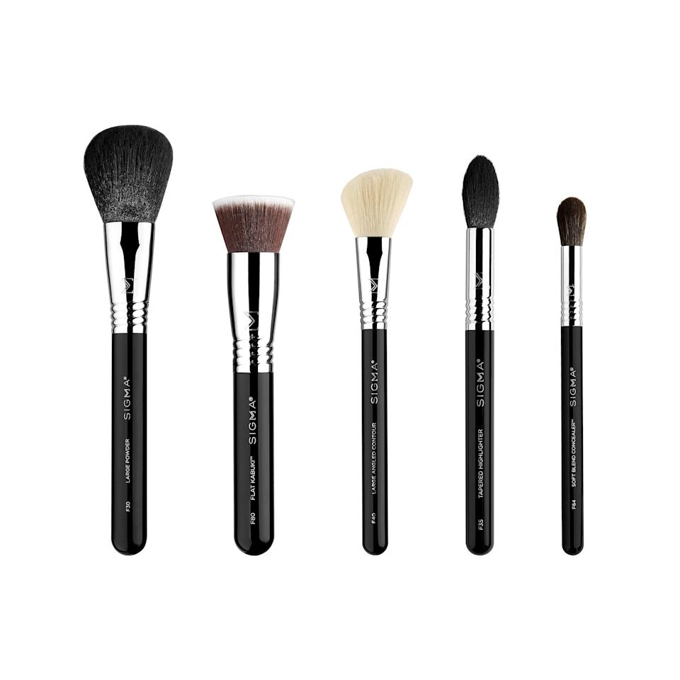 """<h2>Sigma Beauty<br></h2><br>Get 20% all brush sets<br><br><strong><em>Shop <a href=""""https://amzn.to/3gwTU7K"""" rel=""""nofollow noopener"""" target=""""_blank"""" data-ylk=""""slk:Sigma Beauty"""" class=""""link rapid-noclick-resp"""">Sigma Beauty</a></em></strong><br><br><strong>Sigma Beauty</strong> Classic Face Brush Set, $, available at <a href=""""https://amzn.to/3iEfMR1"""" rel=""""nofollow noopener"""" target=""""_blank"""" data-ylk=""""slk:Amazon"""" class=""""link rapid-noclick-resp"""">Amazon</a>"""