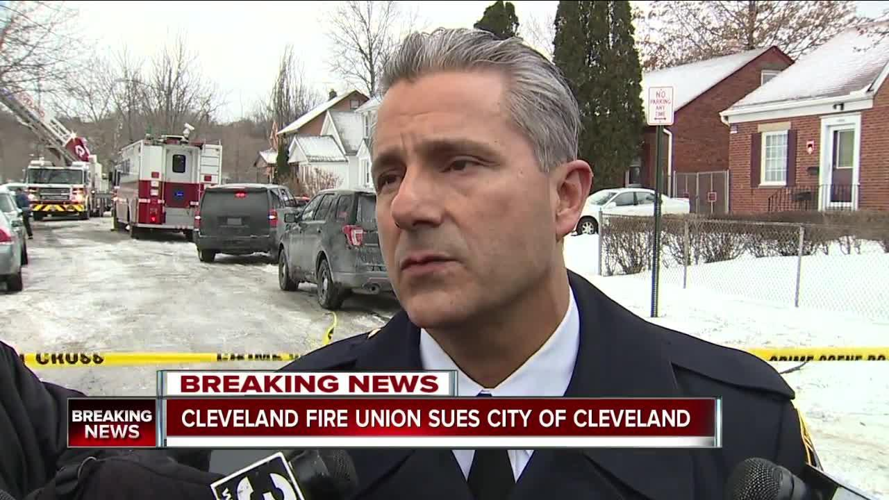 Cleveland firefighters file lawsuit to have fire chief