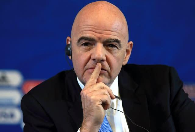 FIFA, led by president Gianni Infantino, is working on a Covid-19 relief fund (Nick Potts/PA)