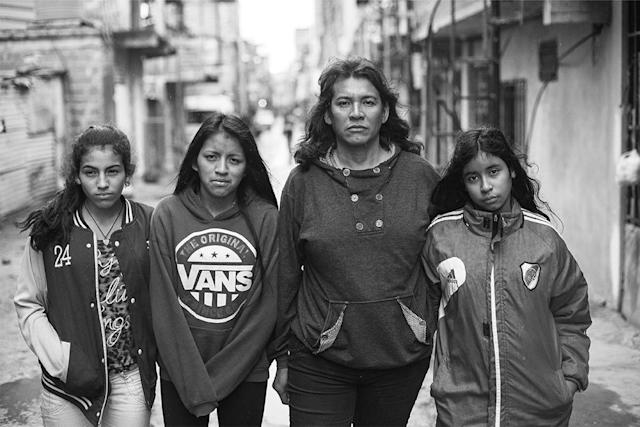 <p>Cinthia and her three daughters, Amira Ayelen, Nahir Daiana, and Zamira Nahomi, in Villa 31, Buenos Aires. (Copyright © 2018 by Kike Arnal. These images originally appeared in Revealing Selves: Transgender Portraits from Argentina, published by The New Press. Reprinted here with permission.) </p>