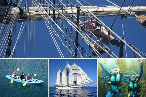"<div class=""caption-title"">Tall Ship Summer Sailing Camp</div><p>  Who: ages 10-18  <br>  Where: Claremont, Calif.  <br>  Cost: $1,495-$3,900 for 7- to 20-day trips  <br>  </p><div class=""caption-credit""> Photo by: Tall Ship Summer Sailing Camp</div> <br>  <a href=""http://www.cnbc.com/id/46951932?__source=yahooshine%7Csummercamps%7C&par=yahooshine""><b>Related: Baseball's Greatest Attractions</b></a><br> What: Kids who board the SSV Tole Mour for Tall Ship Summer Sailing Camp  learn maritime history, marine science and all about the teamwork it  takes to operate a tall ship. On their expedition, which departs from  Long Beach and travels through the Channel Islands, kids get to  experience the glory of unfurling the sails and standing watch on the  bow in the wee hours of the morning, tempered by the mundane but  necessary tasks of putting in shifts in the galley or washing dishes in  the scullery. They will also go snorkeling, diving in kelp forests,  kayaking and boogie boarding."