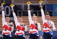 <p>Team GB gymnasts became the first British gymnastic team to win an Olympic finals medal since 1928. After a shaky start – Amelie Morgan fell during her balance beam routine – the British quad moved decisively up the rankings, eventually clinching third place and four bronze medals. </p>
